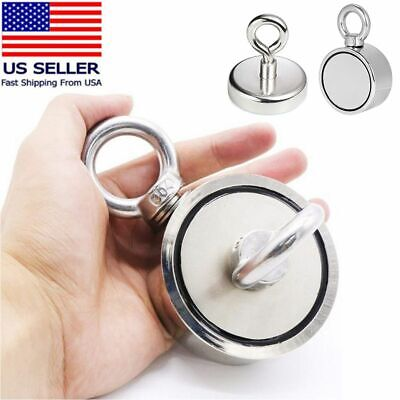 Large Fishing Magnet Upto 600 Lbs Pull Force Heavy Duty Strong Neodymium Magnet