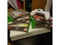 Xbox One S 500gb Console and 6 games with controller