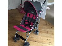 Pink and grey buggy