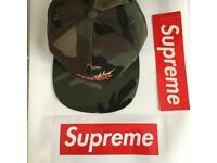 supreme 5-panel Woodland camp hat 100% authentic