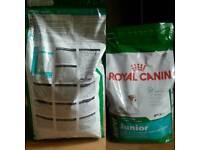 Royal canin small dog mini junior 4kg bag..