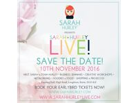 Sarah Hurley LIVE! Creative Business, Shopping, Crafts & Prosecco! Event