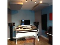 Studio Producer Desk for Sale - with 88 note keyboard tray
