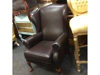 Brown queen Ann chair