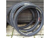 """Mountain bike 24"""" tyres. 2 Maxxis High Rollers and 1 Kenda. Free for collection."""