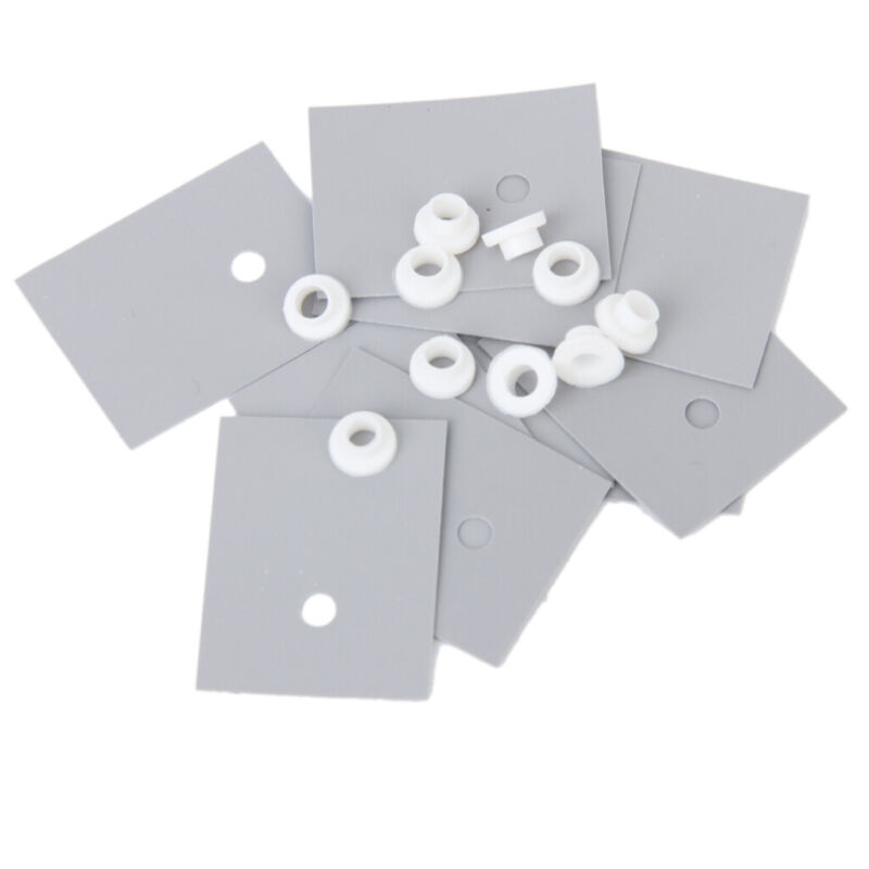10pcs Heatsink Thermal Insulator Insulation Silicone Pad 10 Insulating Particles