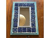 Mexican tile framed mirror