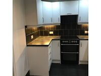 white fitted kitchen worktops gas hob oven sink inc