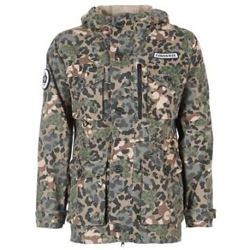 Converse  CONVERSE PRINTED COTTON UTILITY JACKET  Groen co..