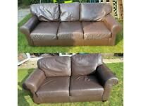 Brown 2&3 seater used sofas can deliver