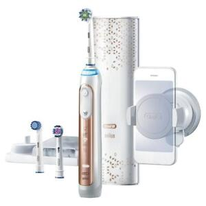 NEW Oral-B Power Genius 8000 Rechargeable Electric Toothbrush, Rose Gold