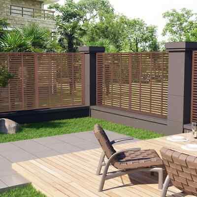 vidaXL Louver Fence WPC 170x170cm Brown Outdoor Patio Privacy Barrier Screen