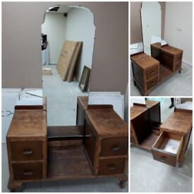 40s style dressing table with mirror excellant condition