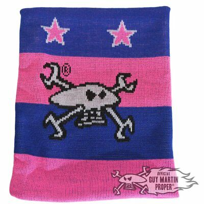 Guy Martin Neck Warmer / Snood / Scarf - Pink And Blue 100% Acrylic