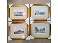 8 Framed prints Northumberland landmarks