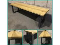 Bench/furniture set/table/solid oak/home/hallway/seat/kitchen/made to any size/bespoke