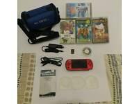 SONY PSP 3003 SLIM RADIANT RED BUNDLE A1