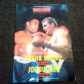 Frank Bruno vs Joe Bugner 1987 Official Souvenir Brochure Wembley Stadium