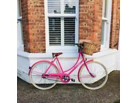 Lovely, ladies pink Pashley leisure bike with basket, £250 (RRP £495)
