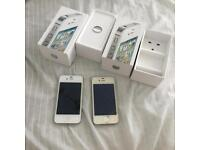 Faulty iPhone 4s 16gb white with boxes spares repairs