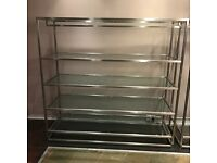 Free standing clothing shelf / rail