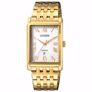 Citizen BH3002-54A Mens Quartz Watch Gold 32mm Stainless Steel band