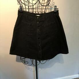 Urban outfitters denim popper skirt
