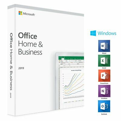 Microsoft Office Home & Business 2019 1 User Activation Key Card for 1 PC