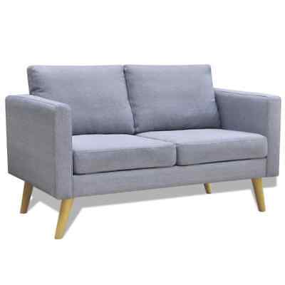 2 Seater Recliner Sofa - vidaXL Sofa 2-Seater Wood Frame Light Gray Couch Lounger Living Room Furniture