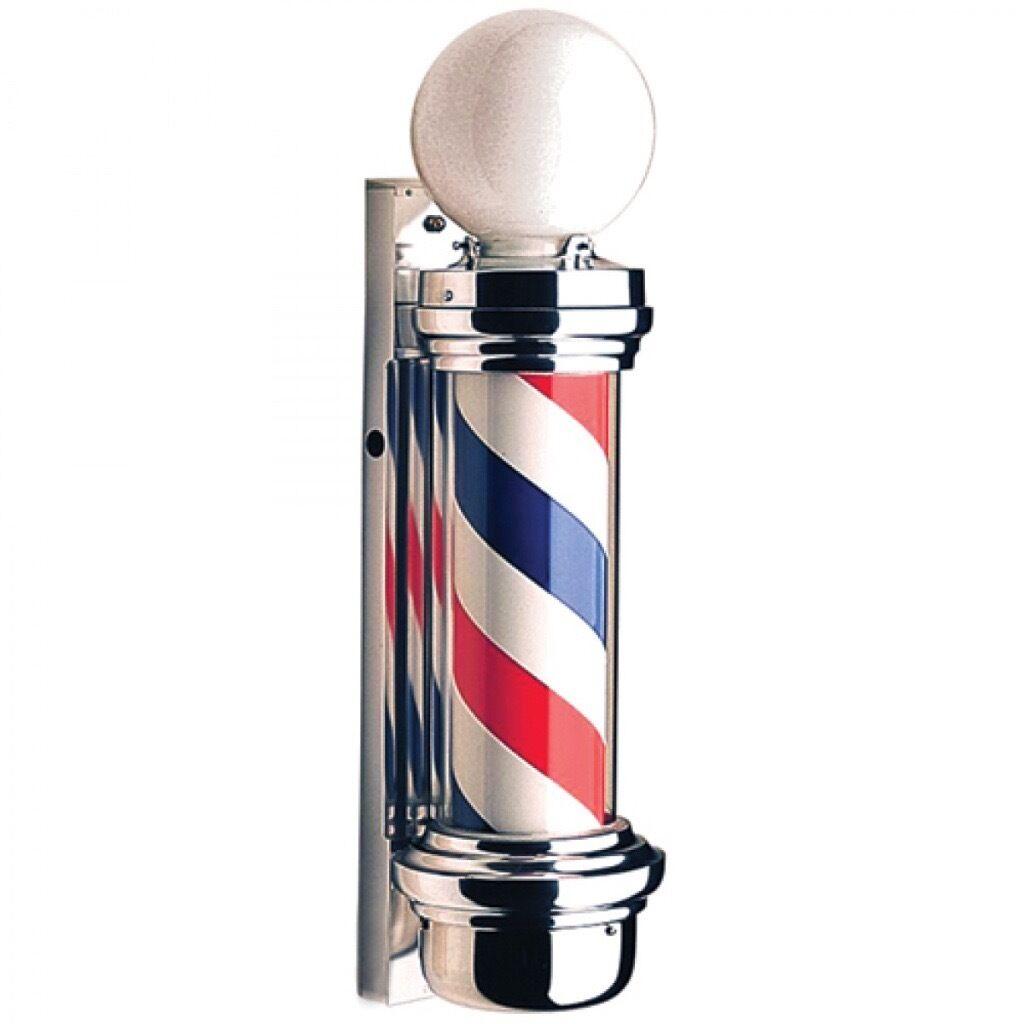Sign Light Barber Pole LED Salon Red White 100 Cm Large For