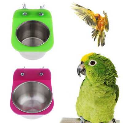 2pcs Bird Cage Food Water Feeding Bowl for Parrot Parakeet Cage Accessories