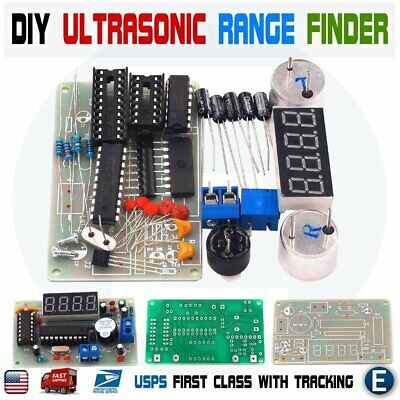 Diy Kit Ultrasonic Distance Measuring Sensor Module Led Display Range Finder