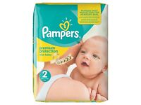 Brand new: Pampers New Baby Nappies Size 2, 160 pk