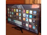 """LUXOR 42"""" Smart FULL HD TV with built in Wifi,Freeview HD, Netflix, Youtube,Excellent condition"""