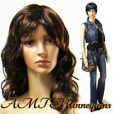 332435 5ft 8 Tall On Sale-female Mannequin Head Rotates Manikin Anna2wigs