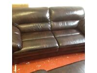 2 Leather Sofas for Sale