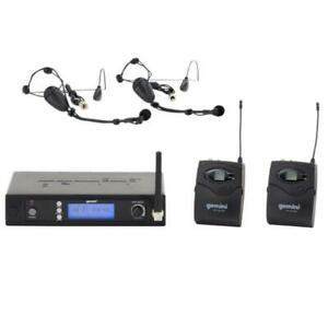 Gemini UHF6200HL UHF Dual Headset Lavalier Bodypack Wireless Microphone Multi-Channel Canada Preview