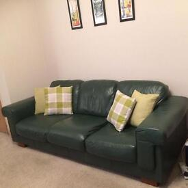 Leather 3 piece (3 seater and 2 arm chairs)