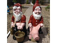 large garden gnomes