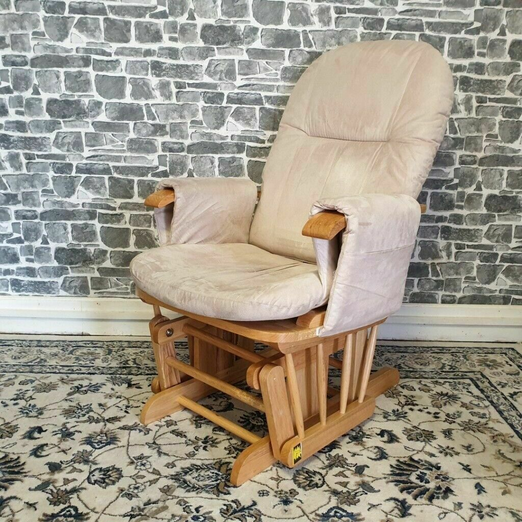 Tutti Bambini Reclining Glider Chair With Cream Cushions In Bearsden Glasgow Gumtree