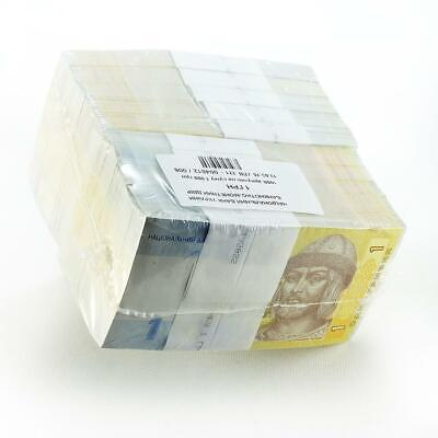 Ukraine 1 hryvna 1000 notes bundle brick 2015