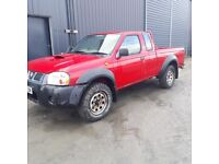 breaking red nissan navara D22 king cab 4x4 parts spares repairs export