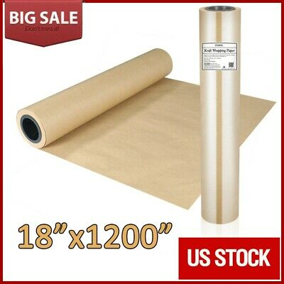 Stobok 18 X 1200in Brown Kraft Paper Roll Shipping Wrapping Cushioning Void Fill