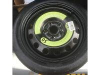 "Space saver wheel for 10 plate Volkswagen Golf Mk 6 that has 16"" 5 stud wheels."
