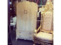 Reduced vintage French style wardrobe