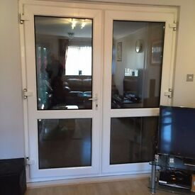 French doors white,