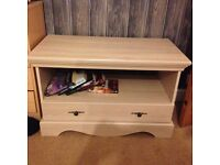 TV table unit in limed oak