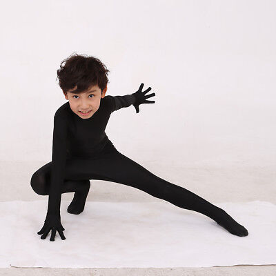 Black Spandex Bodysuit Full Cover Jumpsuit Invisible Costume for Girls - Invisible Girl Kostüm