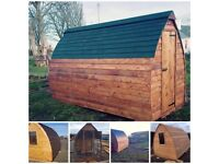 Quality built bespoke Larch pods