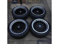 "BM Autosport (BBS LM) 5x100 Staggered 18"" Alloys"